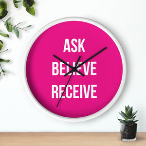 Law of Attraction Wall Clock Ask Believe Receive
