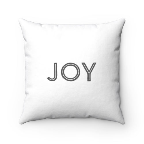 Law of Attraction Cushion Joy Believe White