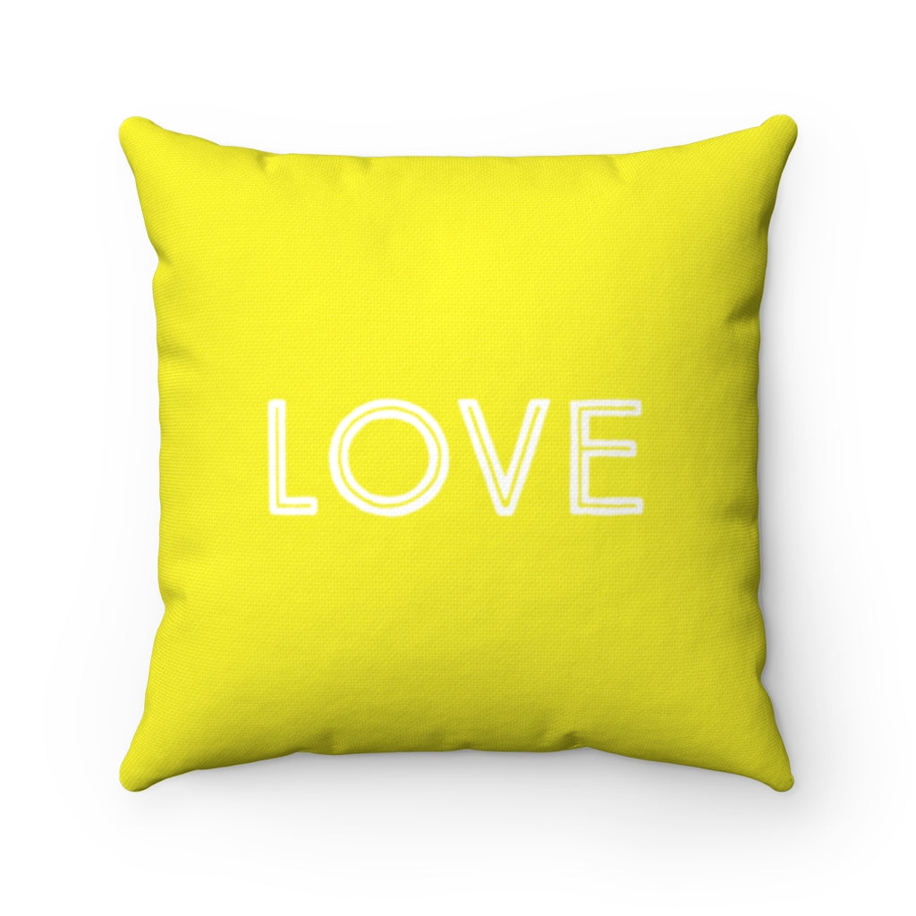 Law of Attraction Pillow Love Yellow