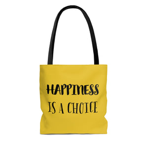 Law of Attraction Tote Bag - Happiness Is A Choice