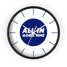 Load image into Gallery viewer, Law of Attraction Wall Clock - All In Good Time - Blue