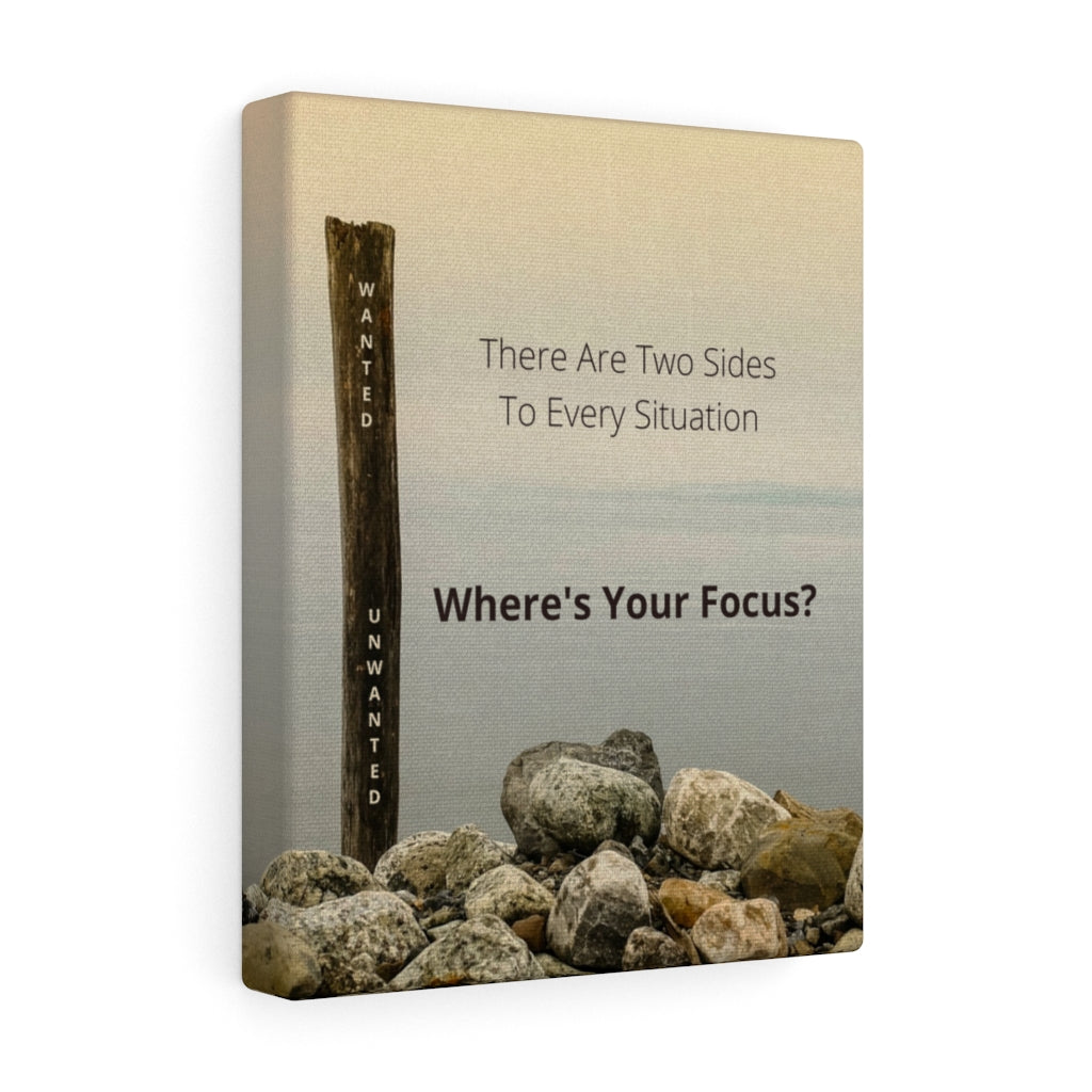 Where's Your Focus - Law of Attraction Canvas