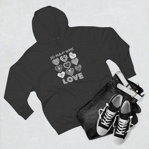Law of Attraction Black Hoodie - So Many Ways to Love