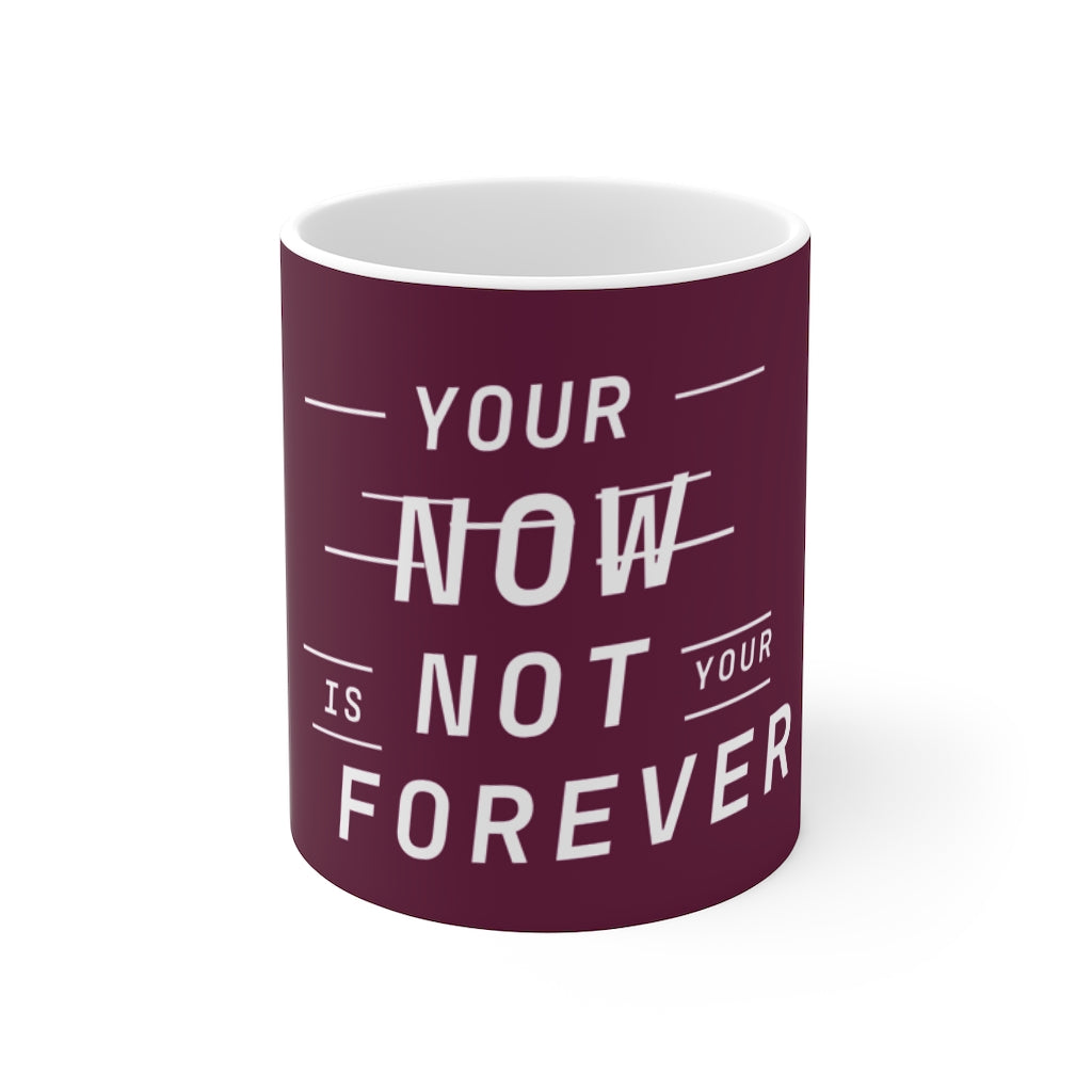 Law of Attraction Mug - Your Now Is Not Your Forever - Purple