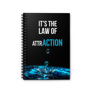 Law of Attraction Notebook - It's the Law of AttrACTION