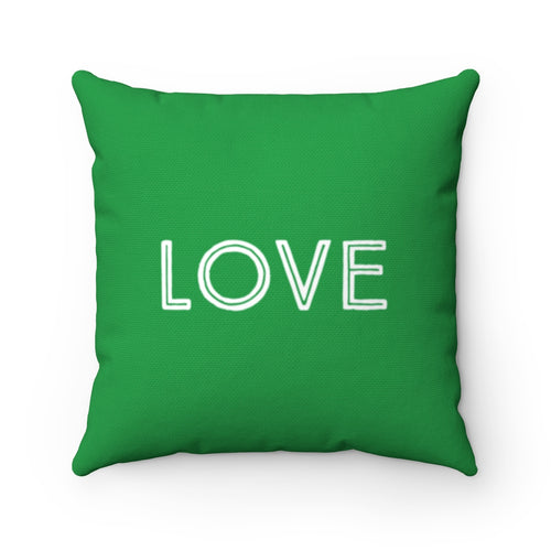 Love Law of Attraction Green Pillow