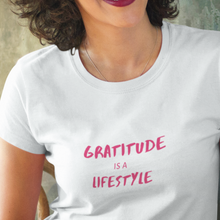 Load image into Gallery viewer, Law of Attraction Women's Premium Tee - Gratitude Is A Lifestyle