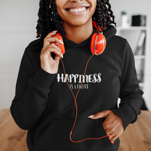 Load image into Gallery viewer, Law of Attraction Hooded Sweatshirt Happiness Is a Choice