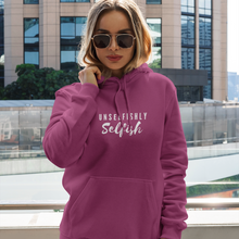Load image into Gallery viewer, Law of Attraction Hooded Sweatshirt - Unselfishly Selfish