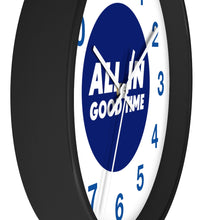 Load image into Gallery viewer, Law of Attraction Wall Clock - All In Good Time - Blue Numbers