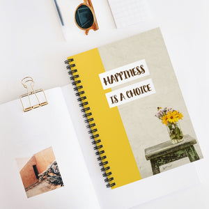 Law of Attraction Spiral Notebook - Happiness is a Choice