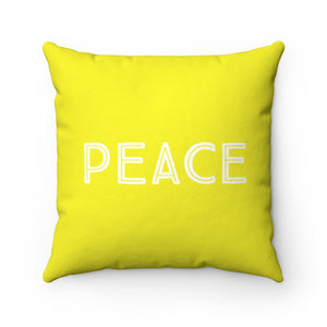 Law of Attraction Pillow - Love Peace - Yellow
