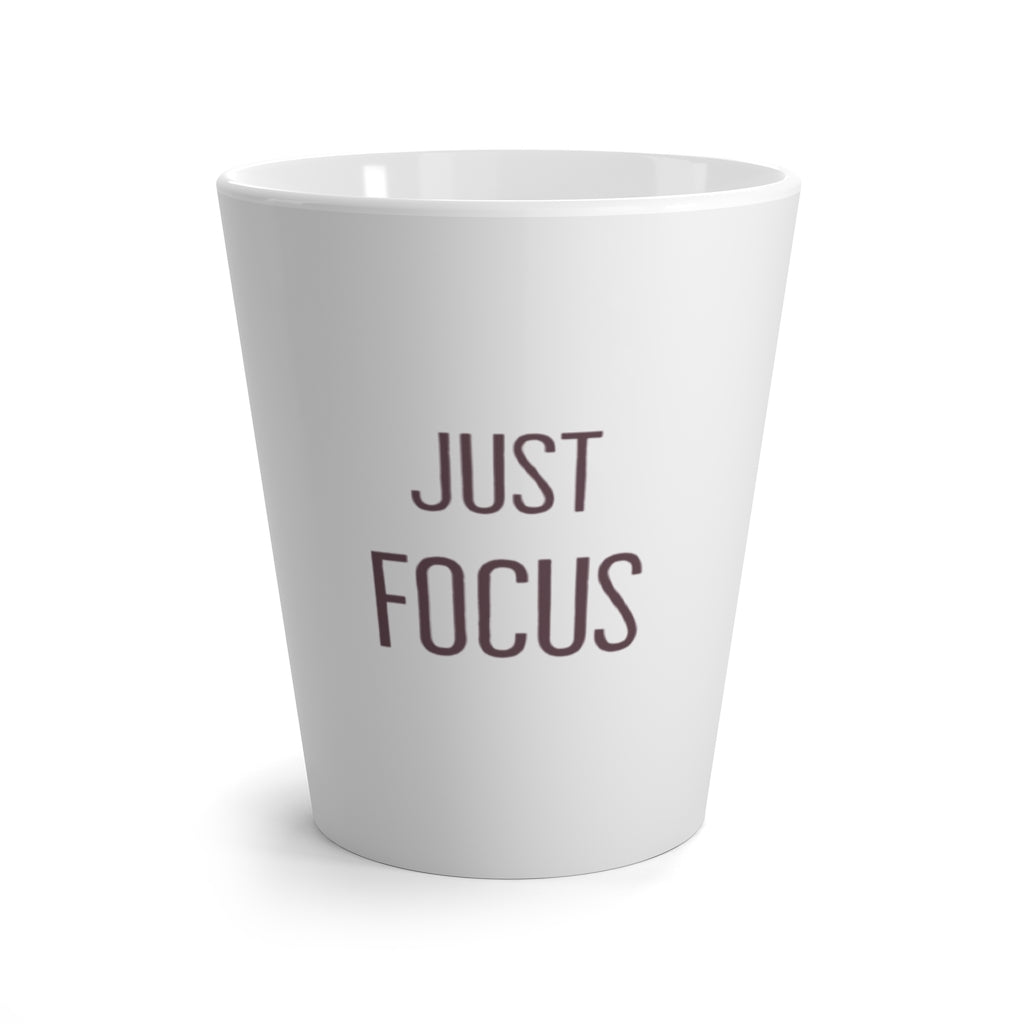 Latte Mug - Just Focus - Grey