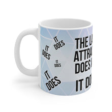 Load image into Gallery viewer, Law of Attraction Mug - The Law of Attraction Does Work  - Blue