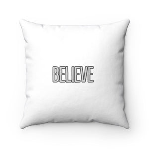 Law of Attraction Biblical Pillow - Believe - BIBLE REFERENCE: MARK 9:23