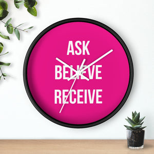 Ask Believe Receive Law of Attraction Wall Clock