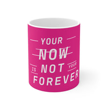 Load image into Gallery viewer, Law of Attraction Mug - Your Now Is Not Your Forever - Pink