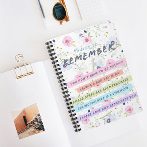 Things to Remember - Law of Attraction Spiral Notebook