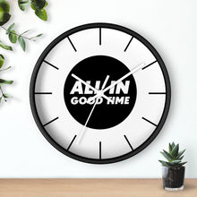 Load image into Gallery viewer, Law of Attraction Wall Clock - All In Good Time - Black