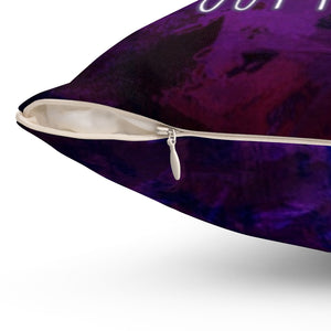 Law of Attraction Pillow - Things Are Always Working Out For Me - Purple