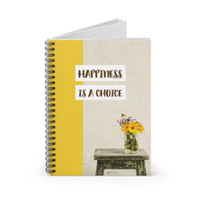 Load image into Gallery viewer, Law of Attraction Spiral Notebook - Happiness is a Choice
