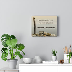Law of Attraction Canvas Print - Where's Your Focus