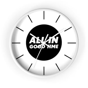 Law of Attraction Wall Clock - All In Good Time - Black