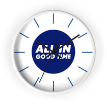 Load image into Gallery viewer, Wall Clock - All in Good Time - Blue