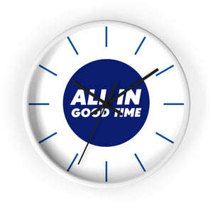 Wall Clock - All in Good Time - Blue