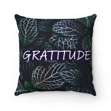 Load image into Gallery viewer, Faux Suede Pillow - Belief & Gratitude