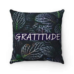 Faux Suede Pillow - Belief & Gratitude