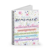 Load image into Gallery viewer, Law of Attraction Spiral Notebook - Things To Remember