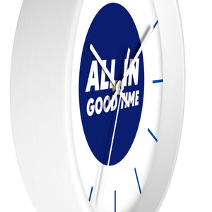 Law of Attraction Wall Clock - All In Good Time - Blue