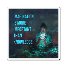 Load image into Gallery viewer, Law of Attraction Fridge Magnet - Imagination Is More Important Than Knowledge - Einstein