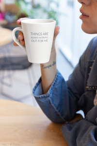 Law of Attraction Latte Mug - Things Are Always Working Out For Me