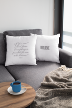 Load image into Gallery viewer, Law of Attraction Biblical Pillow - Believe - Bible Ref:  Mark 9:23