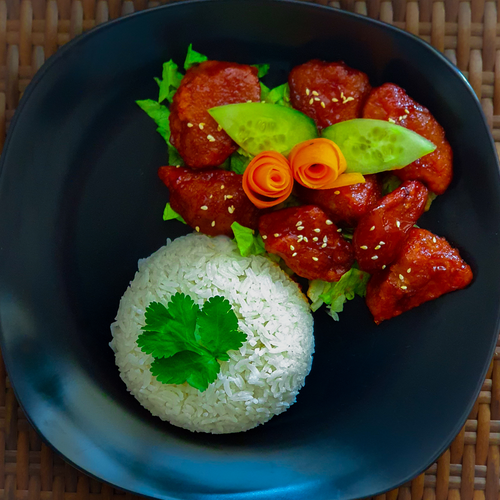 Vegan sweet and sour ribs