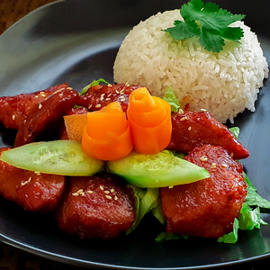 vegetarian sweet and sour ribs