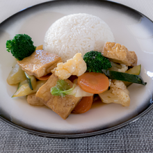 Load image into Gallery viewer, Vegan Braised Tofu and jasmine rice