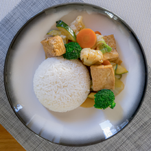 Load image into Gallery viewer, Braised Tofu and jasmine rice