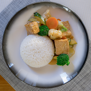 Braised Tofu and jasmine rice