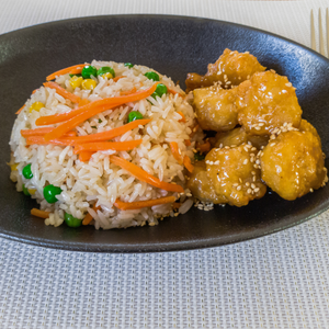 vegetarian honey chicken