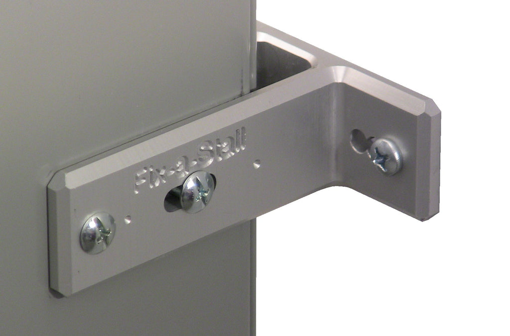 Bathroom Stall Partition Brackets toilet partition hardware wall bracket repair - silver – fix-a-stall