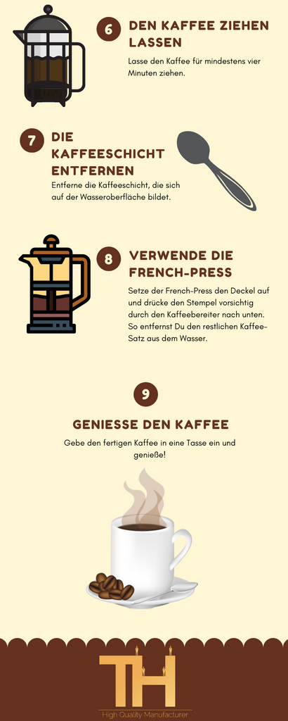 French Press Anleitung 2