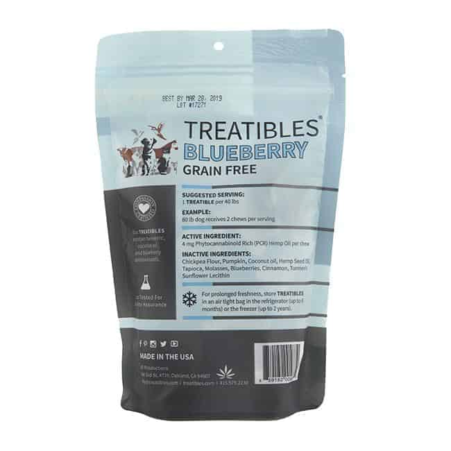TREATIBLES PCR Hemp Pet Hard Chews 4mg