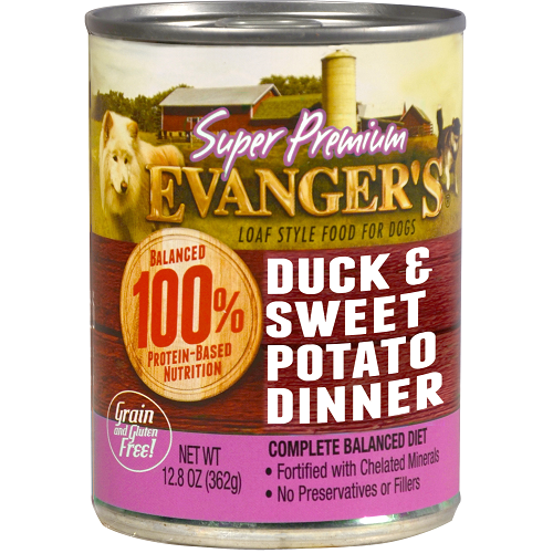 Evanger's Super Premium Duck & Sweet Potato Dinner for Dogs