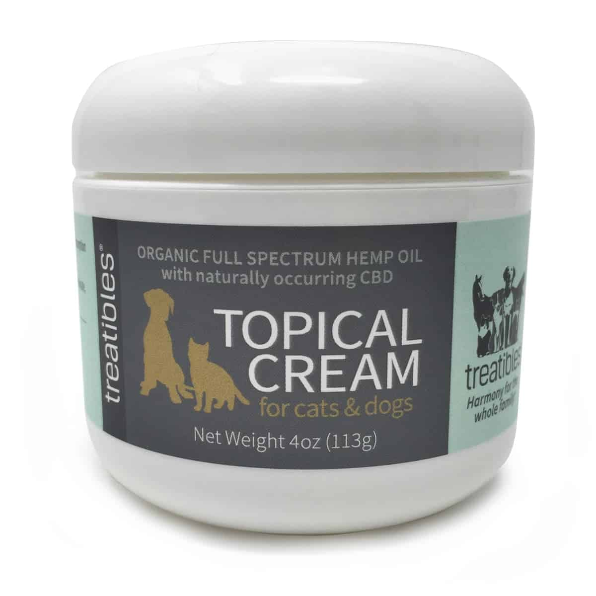 Treatibles Full Spectrum Hemp Oil Topical Cream- 4oz