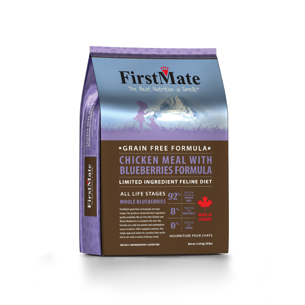 FirstMate™ Grain Free Limited Ingredient Diet Chicken Meal with Blueberries Formula Cat Food