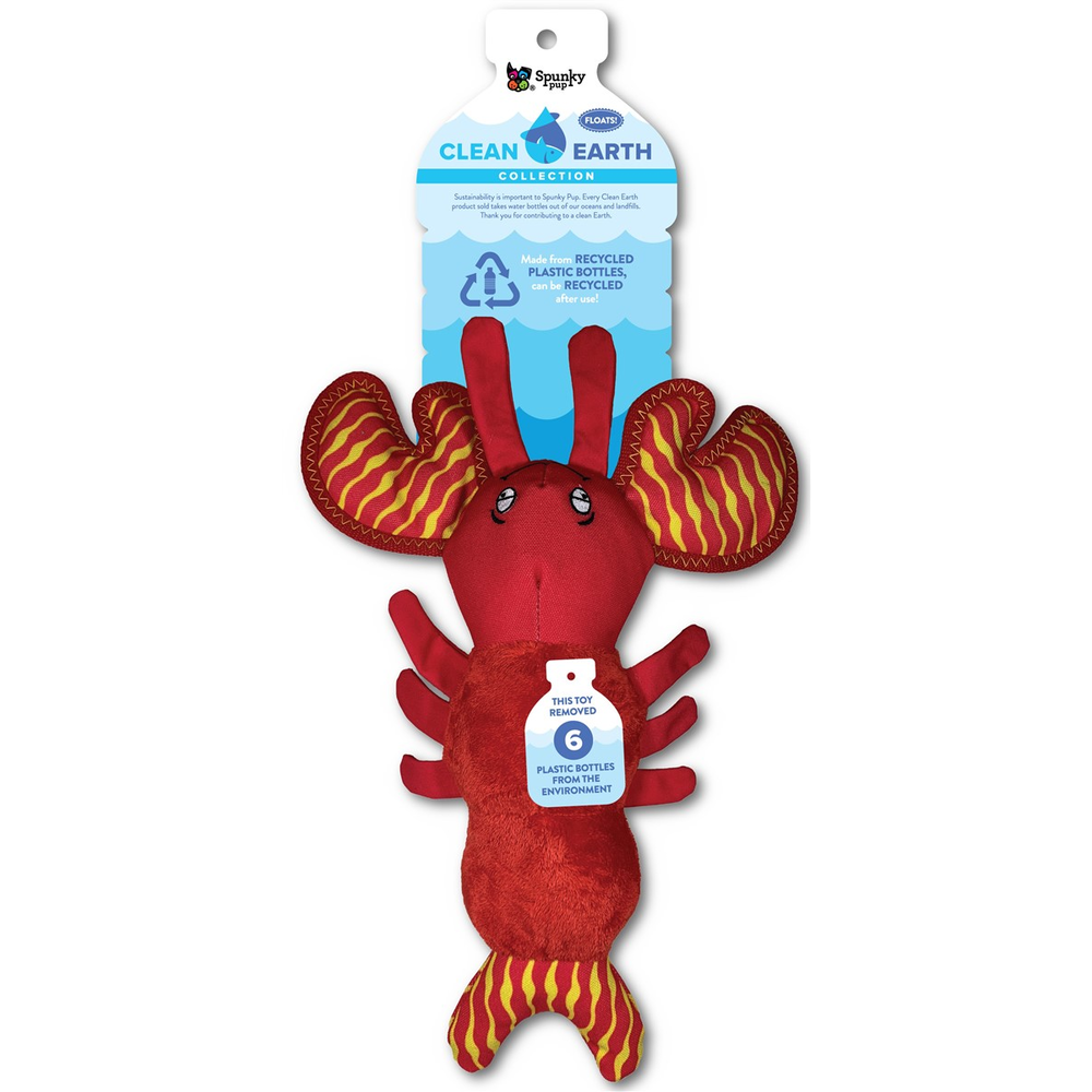 Spunky Pup Clean Earth Recycled Plush Lobster
