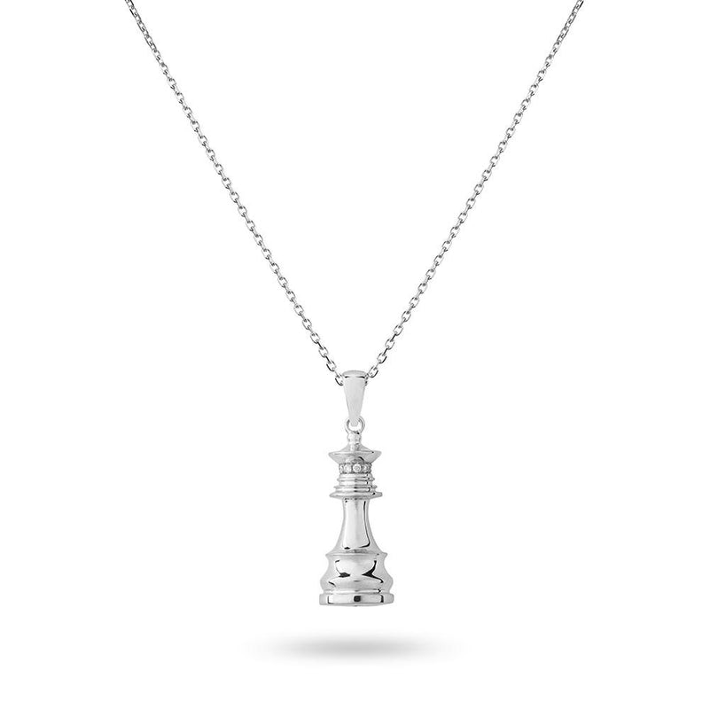 The Queen Power - White Gold White Diamonds Queen Necklace